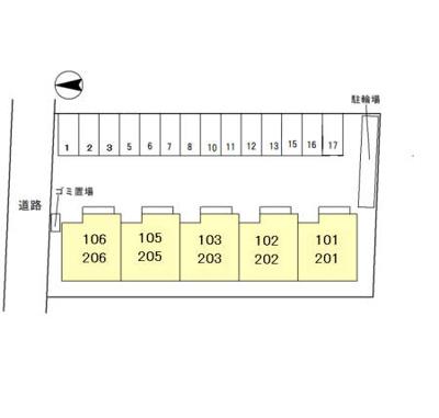 【区画図】(仮)D-room指柳町