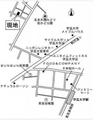 【地図】エストレヤ学芸大学
