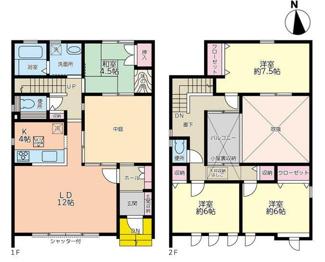 岐阜市六条東 中庭のある中古住宅 築20年のリフォーム済みです。お車並列3台可能!三里小学校まで徒歩6分