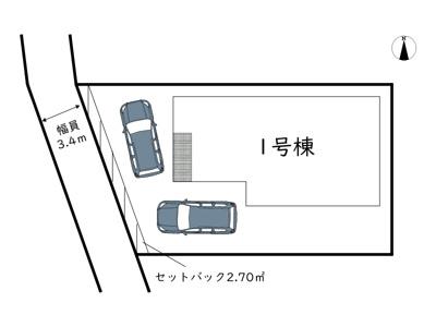 【区画図】姫路市網干区垣内南町/全1棟