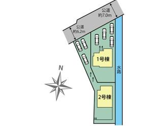 岐阜市大菅北 新築建売全2棟 敷地ゆったり73~75坪 お車スペース4台以上可能!玄関吹き抜け開放的