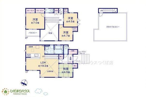 約19帖のLDKは吹抜天井で開放感があります☆彡 LDKは和室が隣接し、扉を開放して広い空間で寛いで頂けます(*^^*)