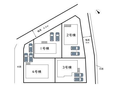 【区画図】姫路市花田町加納原田17期/全4棟