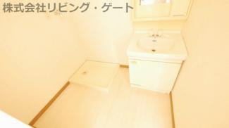 洗面所は広い方がいいですよね?広めの洗面所です!