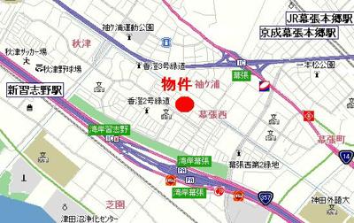 【地図】ボナール香澄