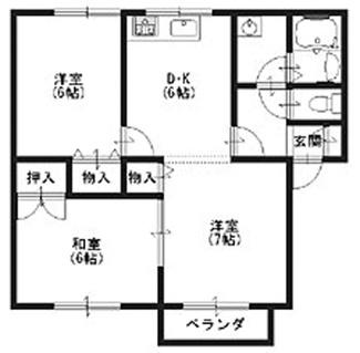 全室6帖以上あり。ご家族でも住める広さです。