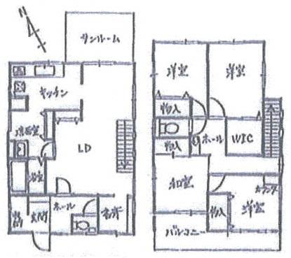 萱田町 中古戸建 2007年建築 在宅ワーク用の書斎 検査済証あり