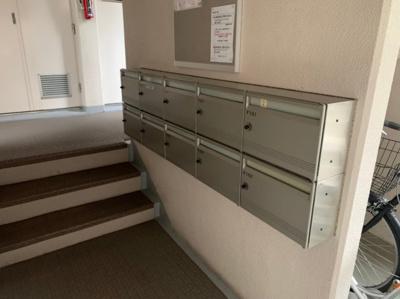 郵便受けです。1階にあります。
