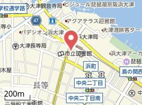 【地図】ヴァンデュール浜大津駅前