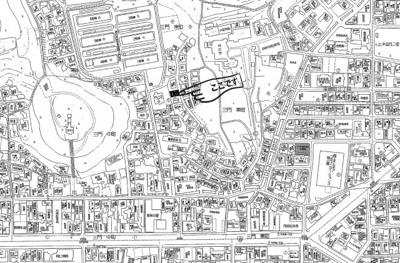 【地図】三門東町土地