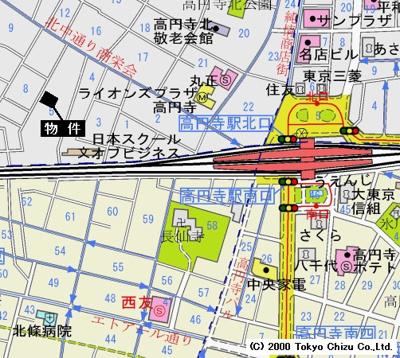 【地図】スカイピア高円寺