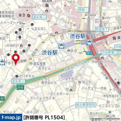 【地図】パレ・ドール渋谷