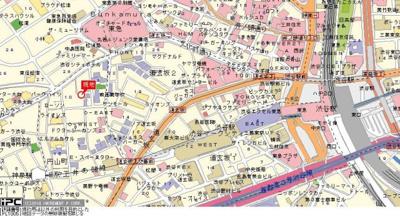【地図】マイキャッスル渋谷JP