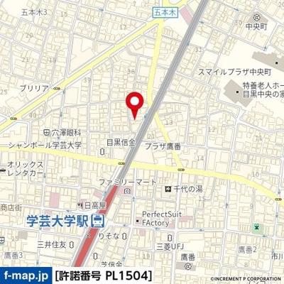 【地図】ユースフル学芸大