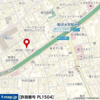 【地図】ユースフル駒沢大学