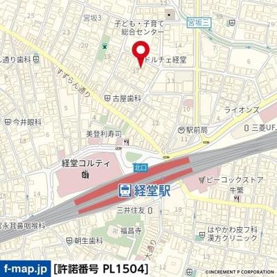 【地図】ハイシティ経堂第2