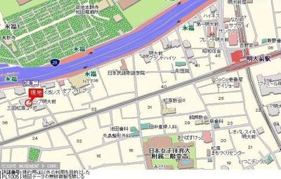 【地図】TOP明大前第3