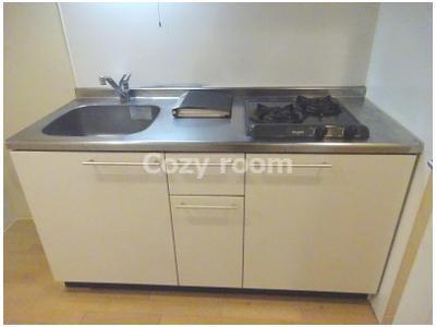 ガス2口コンロ付システムキッチンでお料理をお楽しみください(^-^)