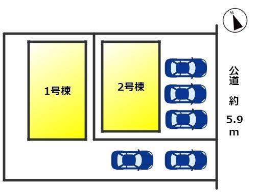 【区画図】知多市つつじが丘 新築分譲戸建