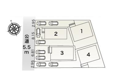 【区画図】清須市西枇杷島町上新公園 【仲介手数料無料】新築一戸建て