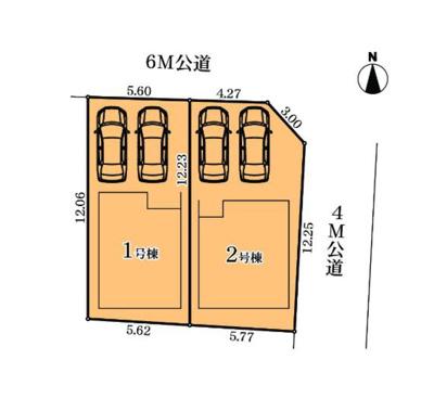 【区画図】中川区西日置第2期 2号棟<仲介手数料無料>