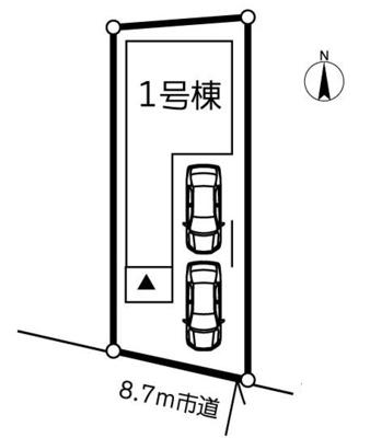 【区画図】新築戸建 川口市朝日2丁目