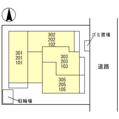 【区画図】D-room西台