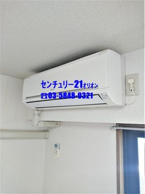 各居室に1基ずつ、計3基のエアコン付き