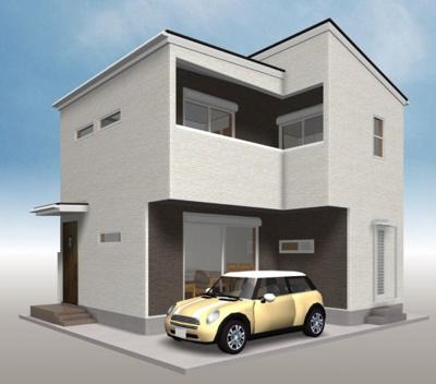 【外観パース】高知県高知市新本町2丁目 新築住宅