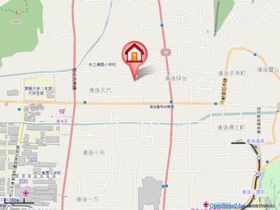 【地図】ソレイユ(道後北代)