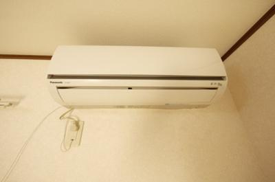 暑さ寒さに必需品のエアコン完備