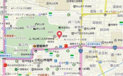 【地図】大街道3丁目ビル
