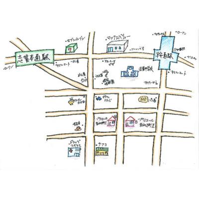 【地図】プリミエール東水切町Ⅱ