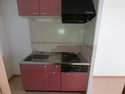 2口ガスコンロのシステムキッチンです。