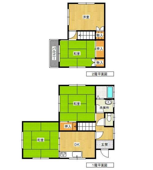 土地面積113.50平米、建物面積75.35平米~南向き、各居室2面採光、日当たり、風通しの良いお住まい、広々とした4DKの間取り