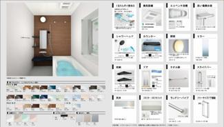 浴室乾燥暖房機付きで雨の日の洗濯物も気になりません。