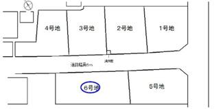 【土地図】守山市荒見町 6号地 売土地