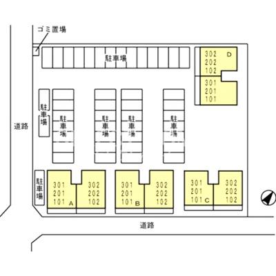 【区画図】アべニール横山 C