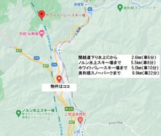 【地図】利根郡みなかみ町川上売地