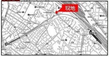 【地図】北区田端6丁目 1-2階 区分店舗事務所