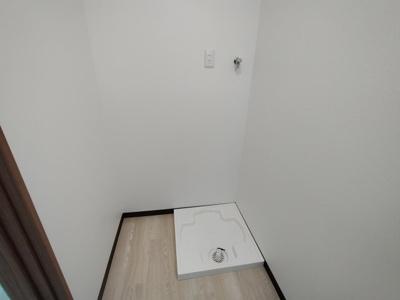 ランドリースペースが室内にあるのも嬉しいポイントですね♪