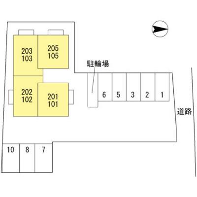 【区画図】D-room 西小二里