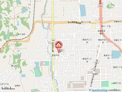 【地図】ルピナスコートA棟