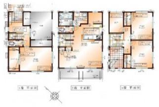 土地面積142.92㎡、建物面積135.00㎡