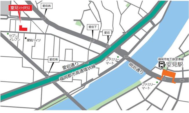 【地図】室見シティハウス