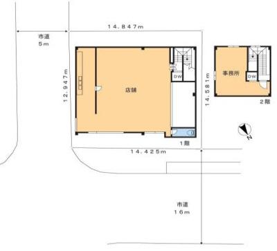 【区画図】松戸市西馬橋広手町 第1種中高層住専地域 売店舗
