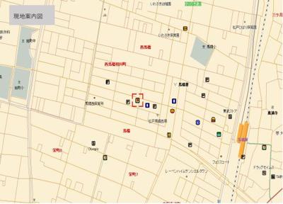 【地図】松戸市西馬橋広手町 第1種中高層住専地域 売店舗