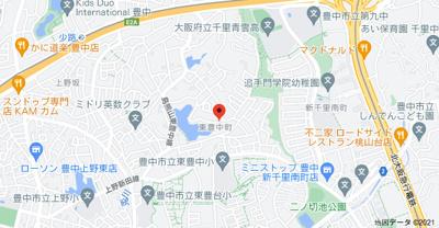 【地図】グリーンビレッジ東豊中