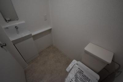 手洗い場がついたトイレです。
