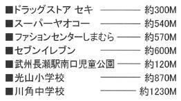 【周辺】【一棟売りアパート】武州長瀬駅徒歩6分◆綺麗な物件です!